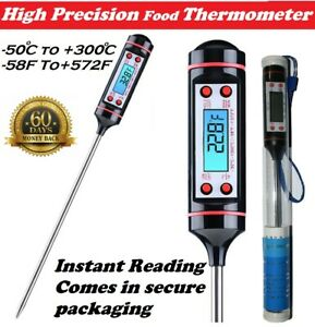 Digital Food Thermometer Probe Cooking Meat Kitchen Temperature BBQ Grill Water
