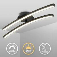 LED Design Deckenlampe Wohnzimmer Schwarz modern Deckenleuchte schwenkbar 12W