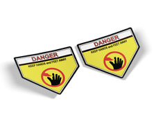 NEW GENUINE OEM TORO PART # 39-5770 DANGER DECAL STICKER; SET OF 2 FREE SHIPPING