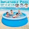 180x63cm PVC Aufblasbar Swimmingpool Schwimmbecken Swimming Pool Schwimmbad Rund