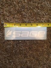 """Sage Fly Fishing Decal Sticker White Approx 7.5"""""""