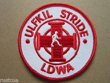 Ulfkil Stride LDWA Walking Hiking Woven Cloth Patch Badge