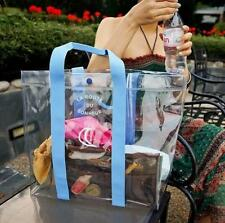 KOREA Invite L Clear Beach GYM Travel Comsmetic Shopping Tote Bag LARGE Skyblue
