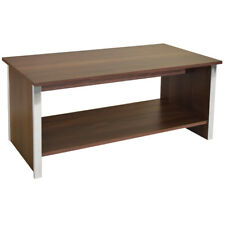 Coffee Table with Storage Shelf - Walnut / Silver ZAS051723566