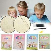 8 Pcs Multi-style Chinese and English Writing Practice Books Groove Copybooks