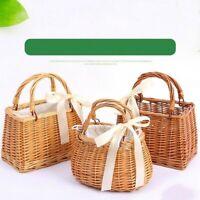 Straw Handbag Beach Bag Woven Large Shoulder Bag Rattan Basket Tote Portable New