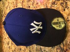 New York Yankees New Era 59Fifty Navy Blue/Black Fitted Cap Size 8