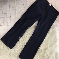 ESPRIT dark Denim Wide Leg Jeans With Red Pin Stripes Size 7/8 Womens
