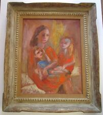 LOLI LILIAN VANN PAINTING WIFE OF OSCAR EXPRESSIONISM VINTAGE ORNATE HUGE FRAME