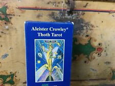 clean,ceremonial occultist aleister crowley, thoth tarot 78 card deck & booklet