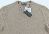Men's DANIEL CREMIEUX Taupe Tan V-Neck CASHMERE Sweater XL Extra Large NWT NEW