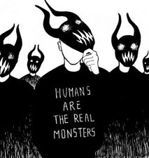 """3.5"""" Hipster Humans Are The Real Monsters Anti Social Hate People Goth Sticker"""