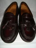 Mens Cole Haan Brown Leather Tassel Loafers 9D 9 D Shoes