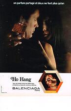 PUBLICITE  1972   BALENCIAGA   parfum HO HANG
