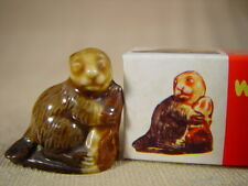 WADE WHIMSIE BEAVER  - BOXED & ORGANZA BAG - SET TWO  - 1972 VGC  gift ref 8