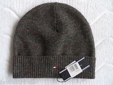 TOMMY HILFIGER WOOL & SILK DONEGAL BEANIE Tuque MENS Mutze Hat NEW WITH TAGS