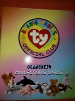 1998 Ty Beanie Babies - Official Collectors Cards BINDER  - 5 Blank pages