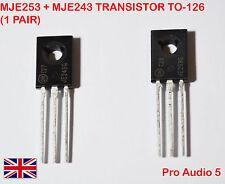 MJE253 + MJE243 TRANSISTOR TO-126 (1 PAIR) - UK STOCK
