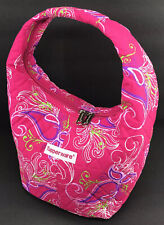 Tupperware Quilted Lunch Tote Bag Pink Paisley Design Insulated Zipper New