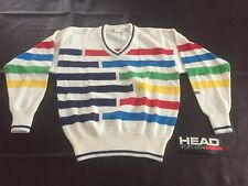 Nos Head Vintage Acrylic 80s 90s Deadstock W Tag Primary Color Ski Sweater Geo