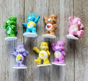"""Mini Carebears Care Bears 1.75"""" PVC Mini Figures TCFC Lot 7 Lucky Love Sunshine"""