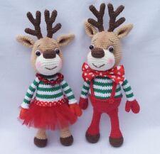 Amigurumi Rudolf Christmas deer Handmade Toy Crochet reindeer Amigurumi deer