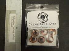 "Ghost Color Clear Cure 3D Dumbbell Eyes 1/2"" 12.7mm Size Six Pack"