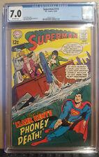 SUPERMAN #210 CGC 7.0  (D.C. COMICS 10/1968) AQUAMAN CAMEO NEAL ADAMS COVER