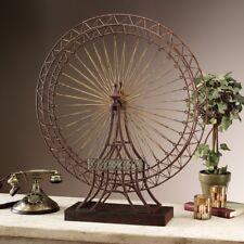 Large Ferris Wheel Sculpture Statue ~ Vintage Antique Rustic Metal Replica
