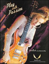 The Dean Classic Hardtail electric guitar ad 8 x 11 model Amanda advertisement