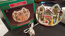 Porcelain Christmas Around World Lighted Musical Plate House of Lloyd Toy Shoppe