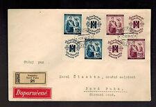 1940 Neupaka Bohemia Moravia Registered Cover Czechoslovakia Local BM w label