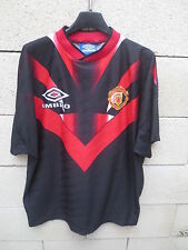 VINTAGE Maillot MANCHESTER UNITED training shirt UMBRO 1995 époque CANTONA L