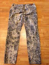 ZARA Z1975 Denim Size 10 Skinny Jeans Animal Print