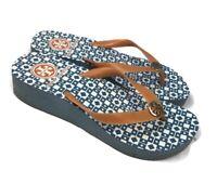 Tory Burch Women's Blue/Orange Flip Flops Sandals