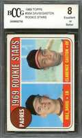 Bill Davis / Clarence Gaston Rookie Card 1969 Topps #304 Padres BGS BCCG 8