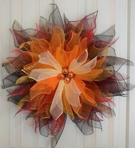 Handmade* Hombre Fall Flower * * Fall* Halloween* Thanksgiving* Fall Colors*