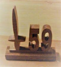 59 COMMANDO ROYAL ENGINEERS SCROLLSAW HARDWOOD DESK ORNAMENT