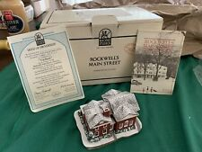 Norman Rockwell's Main Street Buildings The Country Store & The Bank Vtg Limited