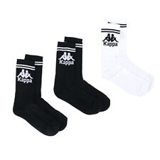 Kappa Black/White Authentic Soccer Socks Size 6-8 UK - 3 Pack