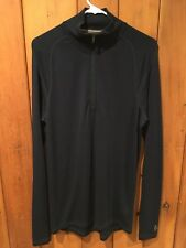 Smartwool NTS Mid 250 1/4 Zip Men's L Merino Wool L/S Shirt Hiking Base Layer