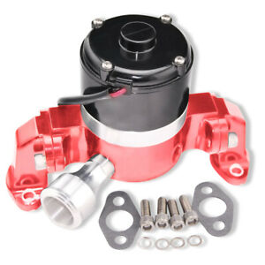 Aluminum Red 35 GPM High Flow Electric Water Pump For SBC 350 Chevy Engines