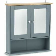 Bathroom Mirrored Cabinet Storage Unit Medicine Toiletries Cupboard Furniture