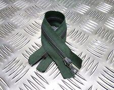 Genuino British Military 245mm Cremallera Cerrada Verde / Cierre Resistente