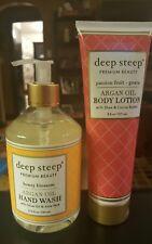 Deep Steep Argan Oil Honey Blossom Liquid Hand Wash & Passion Fruit Body Lotion