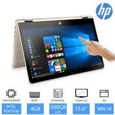 "HP Pavillion x360 15.6"" 2-in-1 Laptop/Tablet Intel Pentium, 4GB RAM, 500GB HDD"