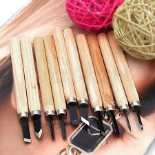 10pcs Set Hand Wood Carving Chisels Knife For Basic Woodcut Working DIY Tools