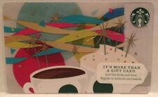 Starbucks Coffee Cup Colorful Ribbons Streamers 2013 Gift Card Collectible
