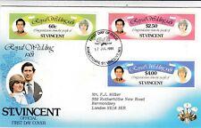 St Vincent 1981 Royal Wedding FDC Bureau Cancel VGC