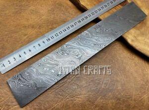 TITANs 30x5cm XL Original Damascus Steel Billet Bar Crafts Knife Making TW12